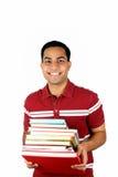 Libros jovenes de la explotación agrícola del estudiante masculino. Fotos de archivo