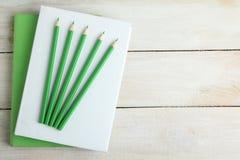 Libros, lápices stock de ilustración