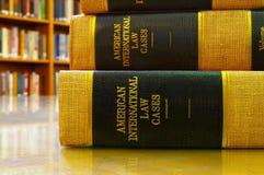 Libros legales Imágenes de archivo libres de regalías