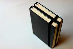 Libros negros Foto de archivo libre de regalías