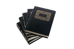 Libros negros isoleted en blanco Fotografía de archivo libre de regalías