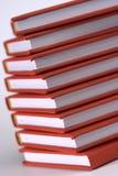 Libros rojos Fotografía de archivo libre de regalías