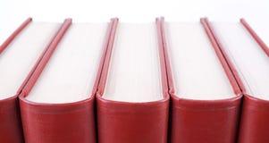 Libros rojos Foto de archivo libre de regalías