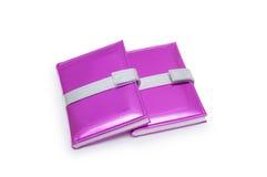 Libros rosados aislados en el fondo blanco Foto de archivo libre de regalías