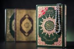 Libros sagrados del Quran Imagen de archivo libre de regalías