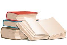 Libros, vector Imagen de archivo libre de regalías