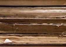 Libros viejos de la biblioteca Foto de archivo