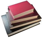 Libros viejos de la pila imagenes de archivo
