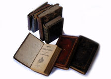 Libros viejos de los preyers Fotografía de archivo