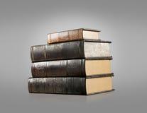 Libros viejos del vintage aislados Foto de archivo
