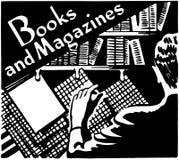Libros y compartimientos ilustración del vector