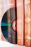 Libros y disco Imagen de archivo
