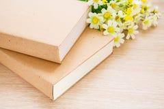 Libros y flor de la margarita Imagenes de archivo