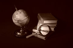 Libros y globos V Fotos de archivo libres de regalías