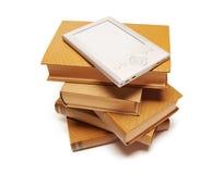 Libros y programa de lectura Imagen de archivo libre de regalías