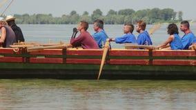 Liburna, navire de guerre romain sur le Danube clips vidéos