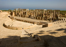 Libya – Leptis Magna. Libya - roman amphitheatre Leptis Magna stock photography