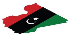 libya översikt stock illustrationer
