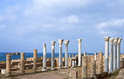 Libya. Archaeological site of Apollonia,the Byzantine basilica Royalty Free Stock Images