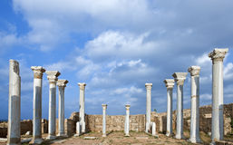 Libya. Archaeological site of Apollonia,the Byzantine basilica Royalty Free Stock Photo