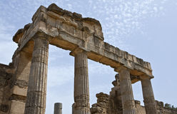 Libya. Archaeological site of Cyrene,the gymnasium Royalty Free Stock Photos