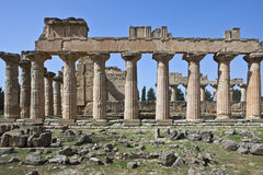 Libya. Archaeological site of Cyrene,the Zeus temple Royalty Free Stock Photos