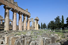 Libya. Archaeological site of Cyrene,the Zeus temple Royalty Free Stock Image