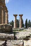 Libya. Archaeological site of Cyrene,the Zeus temple Stock Photography