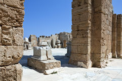 Libya. Archaeological site of Leptis Magna,the Adriano's baths Royalty Free Stock Image