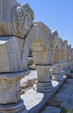 Libya. Archaeological site of Leptis Magna,the forum Royalty Free Stock Image