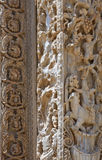 Libya. Archaeological site of Leptis Magna,the Roman basilica Royalty Free Stock Photo