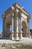 Libya. Archaeological site of Leptis Magna,the Settimio Severo arch Royalty Free Stock Photos