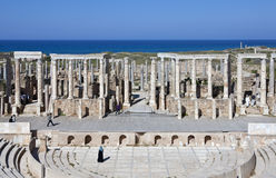Libya. Archaeological site of Leptis Magna,the theatre Stock Photography