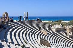 Libya. Archaeological site of Leptis Magna,the theatre Royalty Free Stock Photos