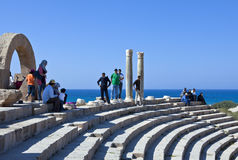 Libya. Archaeological site of Leptis Magna,the theatre Royalty Free Stock Images