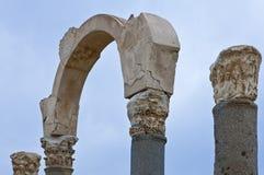 Libya. Archaeological site of Sabratha,the Roman basilica Stock Photography