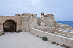 Libya. Archaeological site of Sabratha,the Roman baths Royalty Free Stock Image