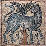 Libya Cyrenaica Byzantine mosaic leopard Royalty Free Stock Image