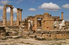 Libya Cyrene Necropolis. Libya Cyrene Ruins of Cyrene UNESCO World Heritage Site Necropolis Stock Image