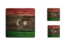 Libya Flag Buttons Stock Photography