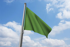 Libya Flag with Clouds Royalty Free Stock Photos