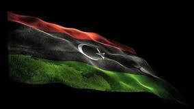 Libya flag stock footage