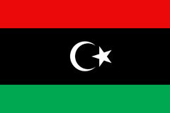 Libya flag flat Stock Image