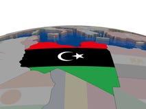 Libya with flag Stock Photos