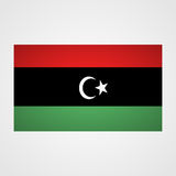 Libya flag on a gray background. Vector illustration royalty free illustration