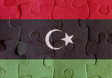 Libya flag puzzle Royalty Free Stock Photography