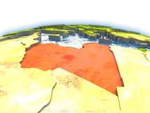 Libya on globe Royalty Free Stock Image