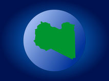 Libya globe illustration Royalty Free Stock Image