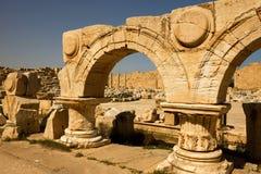 Libya – Leptis Magna, detail of a arcs Stock Image