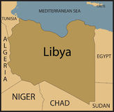 Libya map. Stock Images